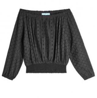 Melissa odabash adriana black cotton top