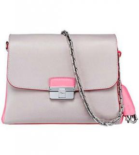 Dior Diorling two-tone leather handbag