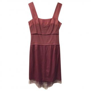 Louis Vuitton Burgundy Dress