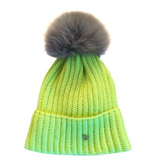 Bogner wool hat with detachable fur trim