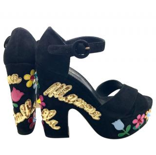 Dolce & gabbana Mamma embroidered sandals