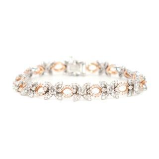 Chatila Floral Diamond Pave Bracelet