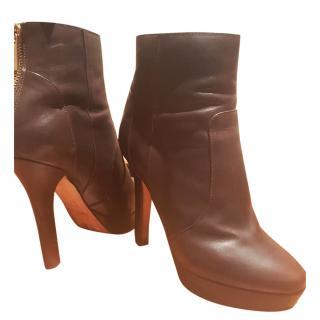 Jimmy Choo Chocolate brown platform boots