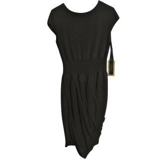 Giambattista Valli draped black dress