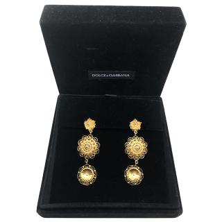 Dolce & gabbana Sicily gold plated earrings