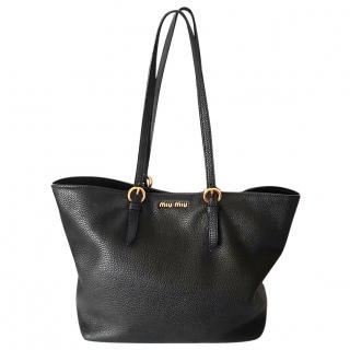 Miu Miu Vitello Daino Tote Shopping Bag