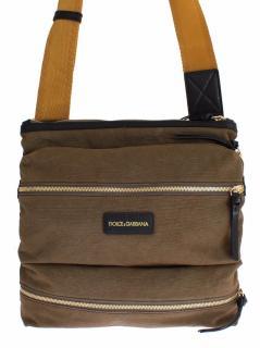 Dolce &Gabbana Green denim leather cross body shoulder bag
