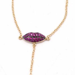 Delfina Delettrez 18kt Gold Kiss My Hand Lip Bracelet