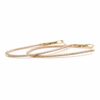 Bespoke Gold and Diamond Hoop Earrings
