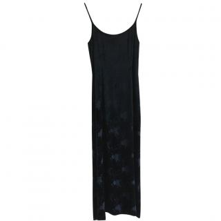 Mani silk velvet evening dress