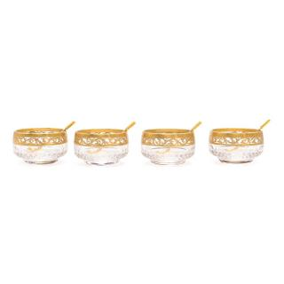 Saint Louis Gold Salt Cellar Set