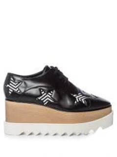 Stella McCartney black/white star Elysee platform