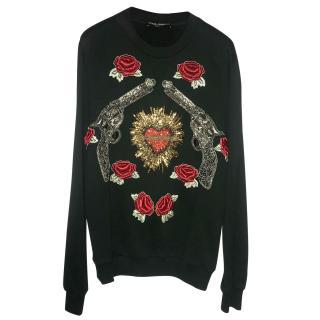 Dolce & Gabbana Sacred Hearts Guns & Roses Sweater