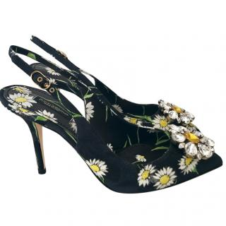 Dolce & Gabbana daisy crystal heels