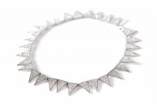 Eddie Borgo Pave Triangle Necklace