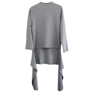 Balenciaga Darped Cotton-Jersey Sweater