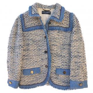 Dolce and Gabbana Denim/tweed jacket