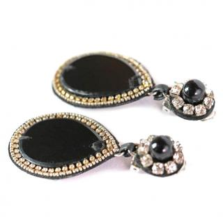 Ranjana Khan Onyx Teardrop Earrings