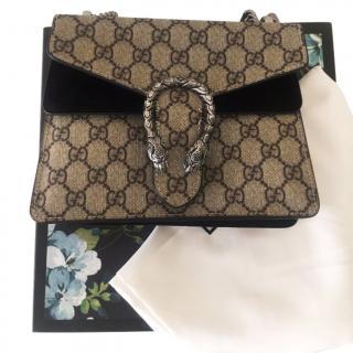 Gucci  Dionysus Canvas/suede shoulder bag