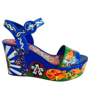 Dolce & gabbana Sicily Caretto Wedge sandals
