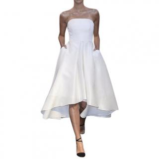 La Mania natural silk strapless dress