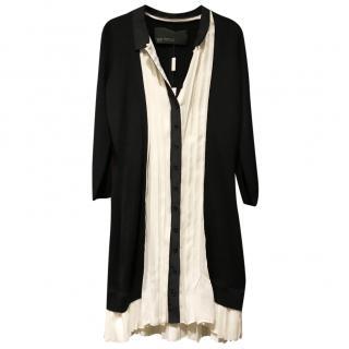 Yoga Azrouel Black/Ivory silk dress