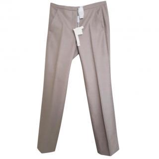 MAX MARA beige wool Trousers