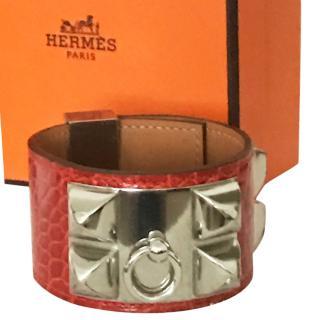 Hermes Croc Leather Collier de Chien