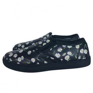 Dolce & Gabbana black floral trainers