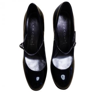 Casadei patent-leather Mary Jane pumps