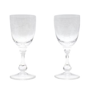 Cristal de Sevres Set of Two Crystal Glasses