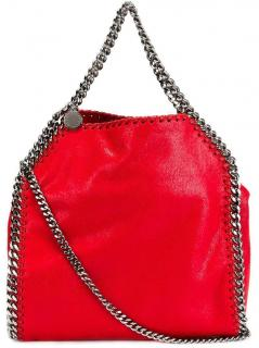 Stella McCartney red Faux Leather Falabella Tote
