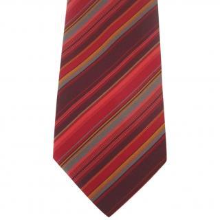 Etro Milano Red Pink Tones Striped Silk Neck Tie