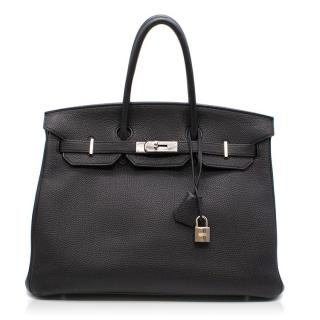 Hermes Black Togo Leather Birkin 35cm