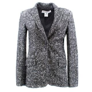 Paul and Joe Silver Sequinned Blazer Jacket