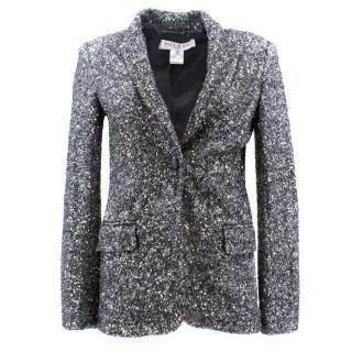 Paul and Joe Silver Sequinned Blazer Jacket