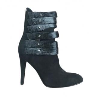 DIESEL Black Suede Boots