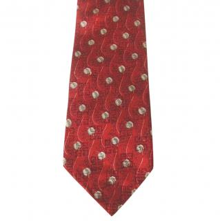 Givenchy Logo Leaves Dark Red Silk Neck Tie