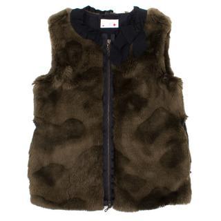 Lanvin Girls Faux Fur Vest