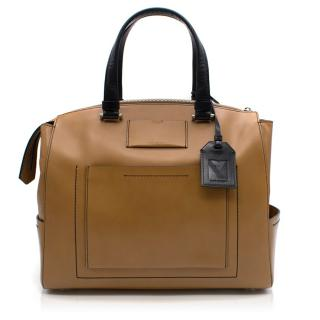 Reed Krakoff Two Tone Leather Satchel