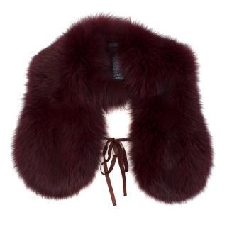 Prada Purple Fox Fur Scarf