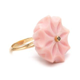 Flora Bhattachary Jyamiti Carved Floral Ring
