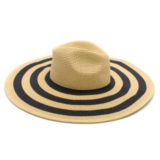 By Malene Birger Mischa Large Woven Hat with Stripes