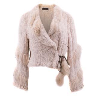 Lederer Racoon and Rabbit Fur Jacket