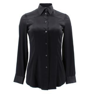 Dolce & Gabbana Black Silk Blend Shirt