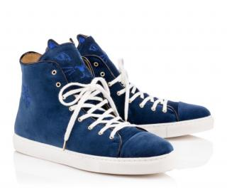 Charlotte Olympia Purrrfect High Tops Sneakers Blue; Size 43; RR
