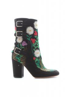 Laurence Dacade 'Merli' Floral-Embroidered Boots