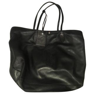 Ralph Lauren classic black leather tote