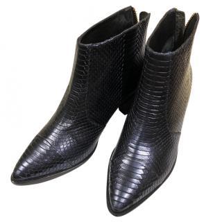 Kat Maconie python iridescent ankle boots