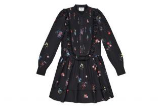Erdem X HM Pleated Bib Front Dress